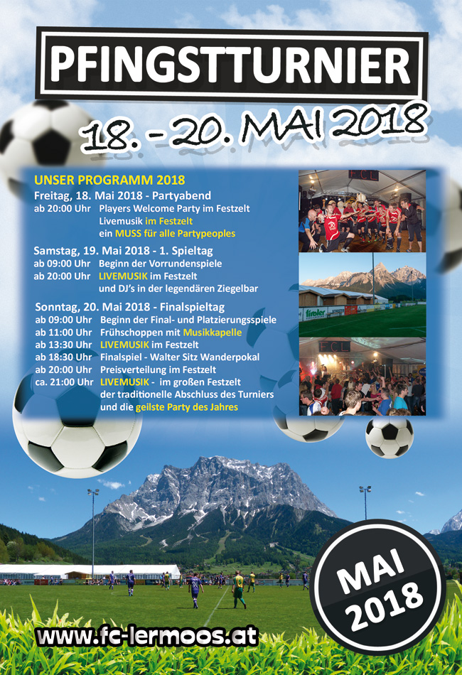 Flyer 2018 - Internationales Pfingstturnier Lermoos Fußball