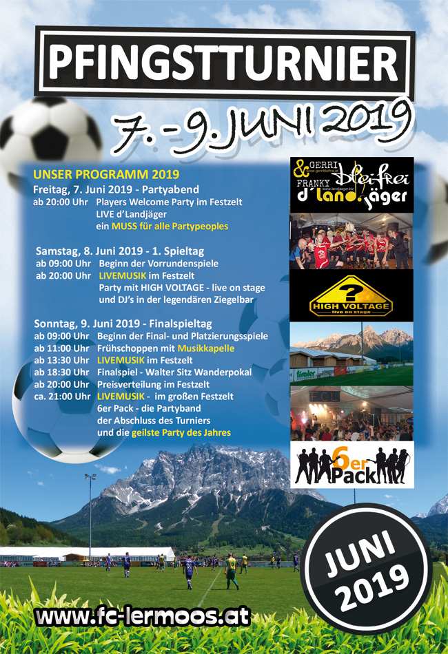 Flyer 2019 - Internationales Pfingstturnier Lermoos Fußball